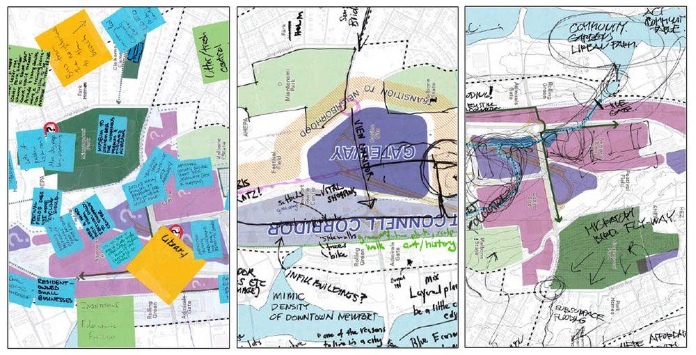 Casi 150 residentes asistieron a un foro público sobre el Plan North End en febrero de 2020. En el evento, los asistentes compartieron sus ideas para el futuro de North End en varios mapas.