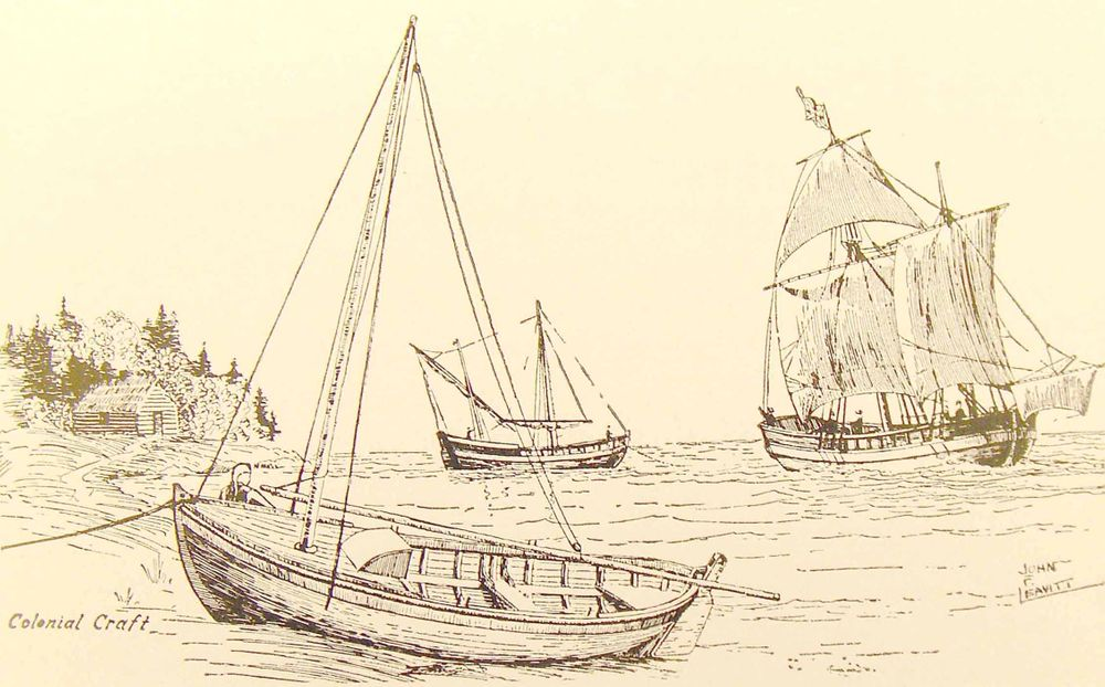 A pink, a pinnace, and a shallop were the three watercraft used by English-allied forces during the Mistick Fort Campaign.