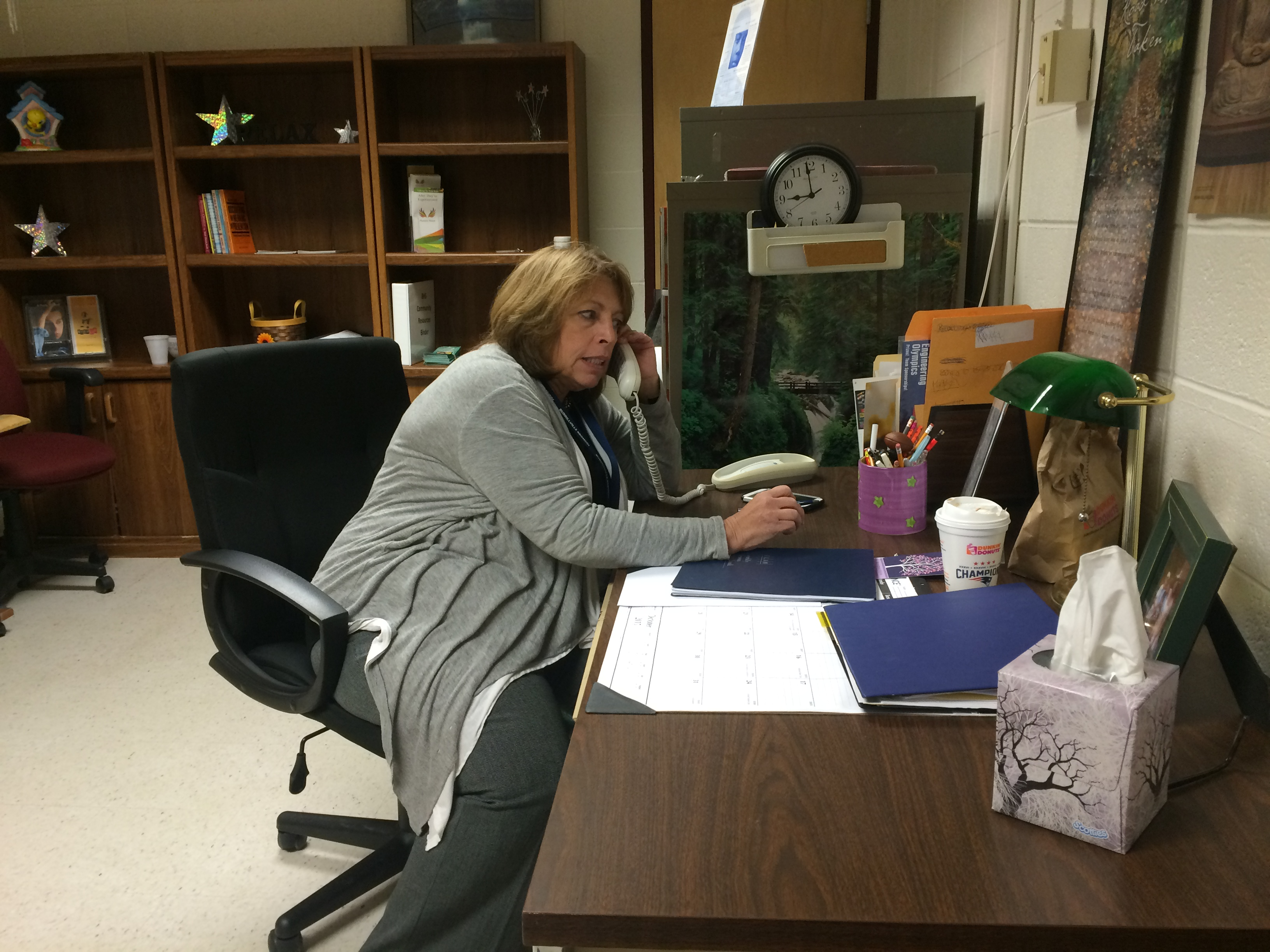 Substance Abuse Prevention Specialist Janet McLinden works with at-risk students and runs the Burrillville High School chapter of Students Against Drunk Driving