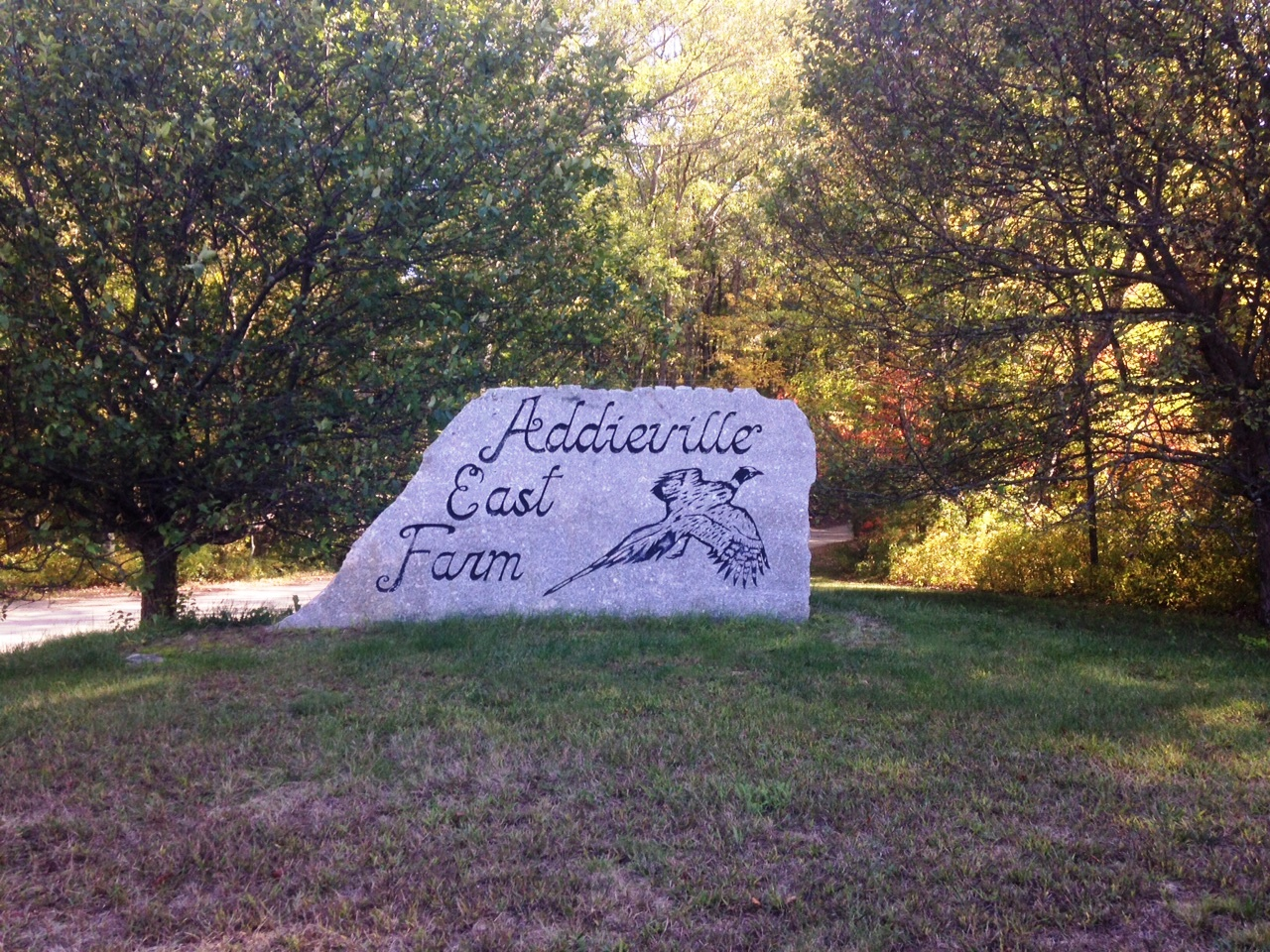 The entrance to Addieville East Farm in Burrillville Rhode Island