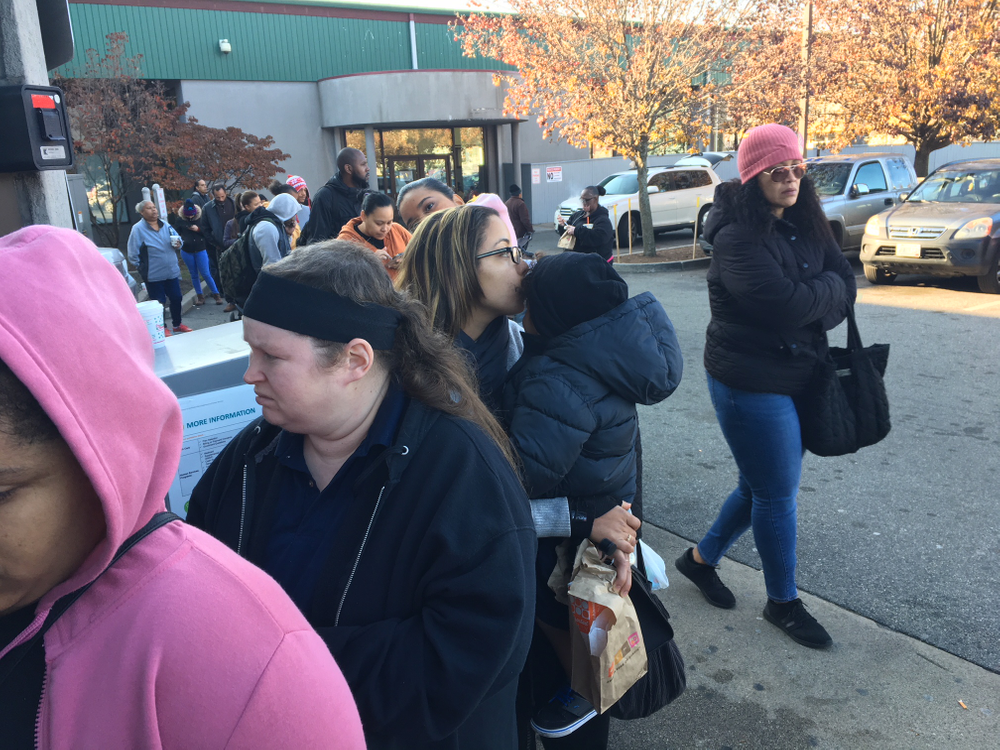 Residents waited in line in December for benefits at R.I. Department of Human Services